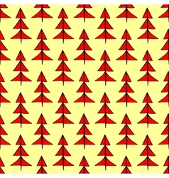 Red Christmas spruce seamless pattern vector image vector image
