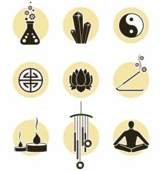 spirituality icon set vector image