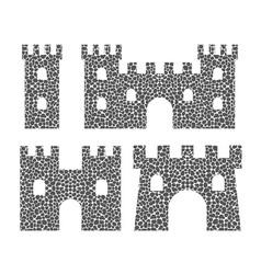 stone castle vector image