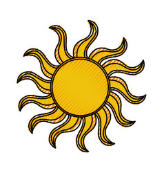 sun summer isolated icon vector image