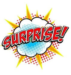 Surprise Comic style phrase vector image vector image