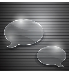 Two speech bubbles from glass vector image vector image