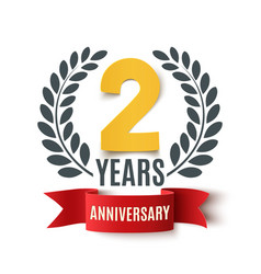 Two years anniversary design vector