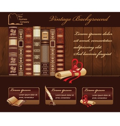 Vintage Book Background vector image vector image