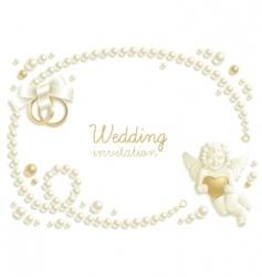 wedding jewel vector image vector image