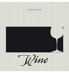 Wine List - Menu vector image vector image