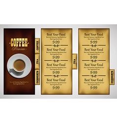 cafe menu design vector image