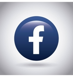 facebook classic emblem icon vector image