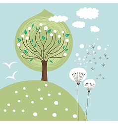 Spring Scene vector image
