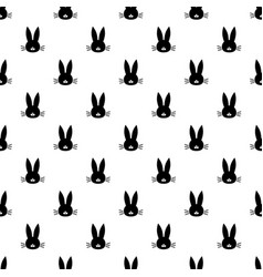 pattern with black rabbit head vector image
