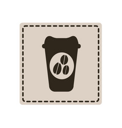 Emblem coffee espresso icon vector