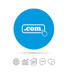 domain com sign icon top-level internet domain vector image