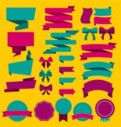 Colorful blank design elements set vector