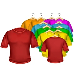 T-shirt multicolored vector