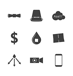 Black silhouette icons for ice bucket challenge vector