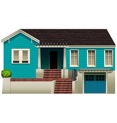 A blue residential house vector