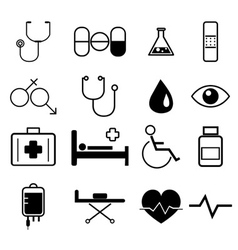 medical icons set vector image