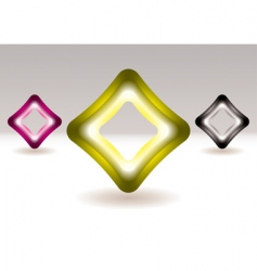 illuminated icons vector image
