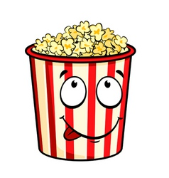 Cartoon popcorn vector