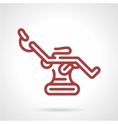 Red line tattoo chair icon vector