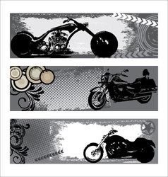 grunge motorbike banners vector image