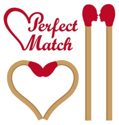 Perfect match set vector image