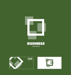 Business square corporate logo vector