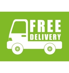 Free delivery illuistration vector