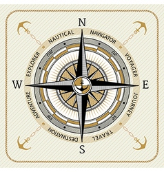 Nautical vintage compass 03 vector