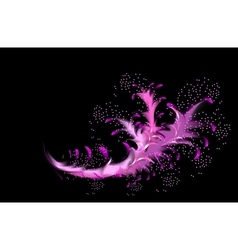 Abstract fractal resembling a pink coral vector