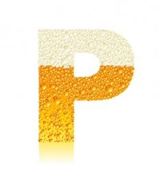 alphabet beer p vector image vector image