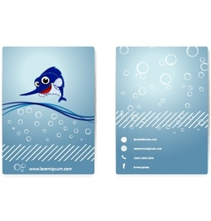 Business card with happy marlin vector image vector image