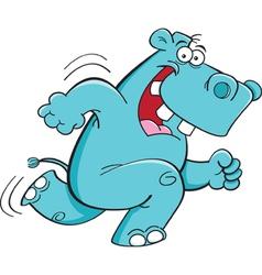 Cartoon Running Hippopotamus vector image