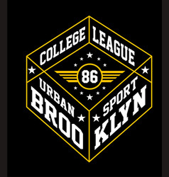 College brooklyn vector