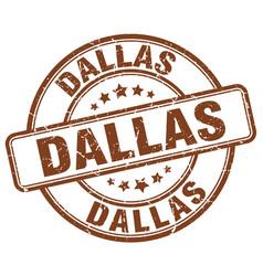 Dallas brown grunge round vintage rubber stamp vector