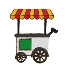 Fast food cart vector