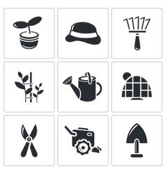 Garden icon collection vector image vector image