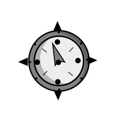 grayscale compass object to travel in map vector image vector image