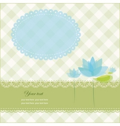 greeting card with copy space and water lily vector image
