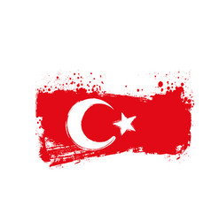 Grunge turkey flag vector