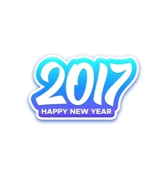 Happy new year 2017 greeting card vector