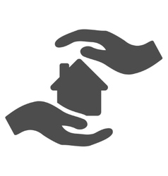 House care hands flat icon vector