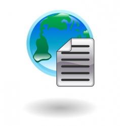 internet document illustration vector image vector image