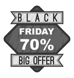 Label black friday seventy percent big offer icon vector