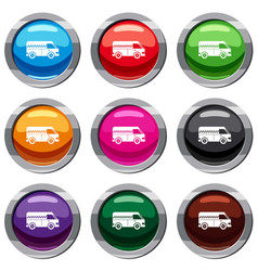 minibus taxi set 9 collection vector image vector image