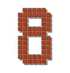 Number 8 made from realistic stone tiles vector