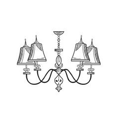 Rich baroque classic chandelier luxury decor vector