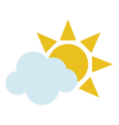 Sun and cloud icon image vector