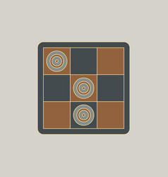 Tic tac toe x o game vector