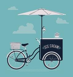 Vintage Ice Cream Cart vector image vector image